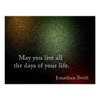 Jonathan Swift quote - art poster