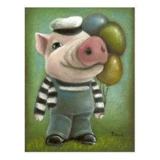 Jonathan the pig postcard