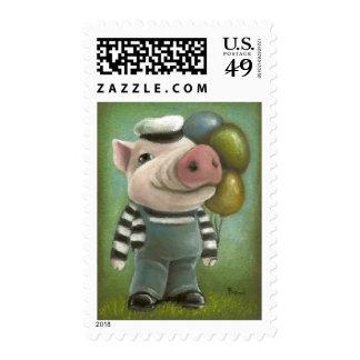 Jonathan the pig stamp