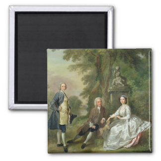 Jonathan Tyers (d.1767) and his Daughter, Elizabet 2 Inch Square Magnet