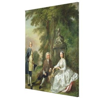 Jonathan Tyers (d.1767) and his Daughter, Elizabet Canvas Prints