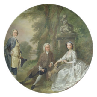 Jonathan Tyers (d.1767) and his Daughter, Elizabet Dinner Plate