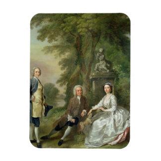 Jonathan Tyers (d.1767) and his Daughter, Elizabet Rectangular Photo Magnet