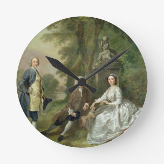 Jonathan Tyers (d.1767) and his Daughter, Elizabet Round Clock