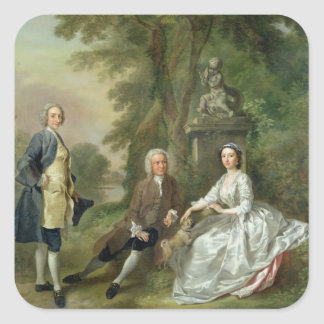 Jonathan Tyers (d.1767) and his Daughter, Elizabet Square Sticker