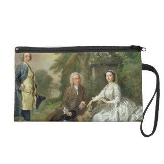 Jonathan Tyers (d.1767) and his Daughter, Elizabet Wristlet Purse