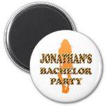 Jonathan's Bachelor Party Fridge Magnet