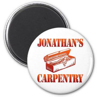 Jonathan's Carpentry 2 Inch Round Magnet