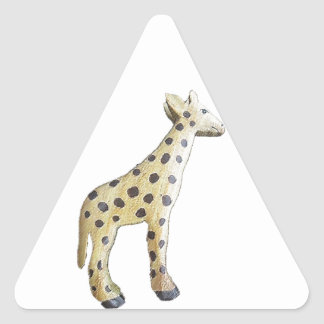 Jonathon Giraffe Triangle Sticker