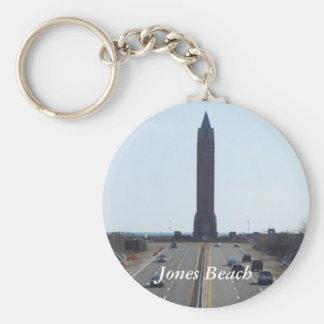 Jones Beach Key Ring Basic Round Button Keychain