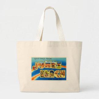 Jones Beach New York NY Vintage Travel Souvenir Large Tote Bag