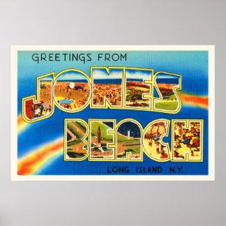 Jones Beach New York NY Vintage Travel Souvenir Poster