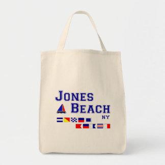 Jones Beach NY Signal Flags Grocery Tote Bag