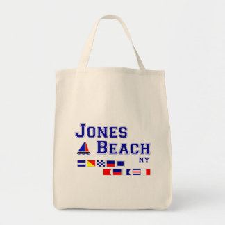 Jones Beach NY Signal Flags Grocery Tote Bag