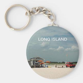 Jones Beach Umbrella Stand Basic Round Button Keychain