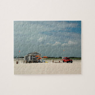 Jones Beach Umbrella Stand Jigsaw Puzzle
