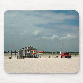 Jones Beach Umbrella Stand Mouse Pad