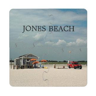 Jones Beach Umbrella Stand Puzzle Coaster