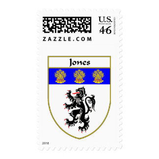 Jones Coat of Arms/Family Crest (Wales) Postage Stamps