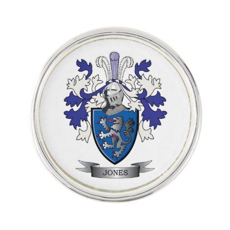 Jones Coat of Arms Lapel Pin