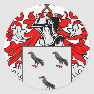 Jones (English) Coat of Arms Classic Round Sticker