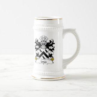 Jones Family Crest Beer Stein