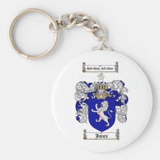 JONES FAMILY CREST -  JONES COAT OF ARMS BASIC ROUND BUTTON KEYCHAIN