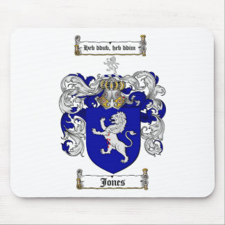 JONES FAMILY CREST -  JONES COAT OF ARMS MOUSE PAD