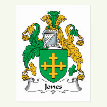 Jones Family Crest Postcard