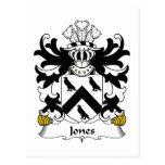 Jones Family Crest Postcard