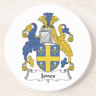 Jones Family Crest Sandstone Coaster