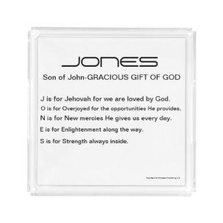 Jones Family Name Acrylic Vanity Tray
