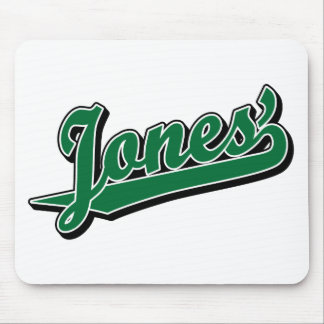 Jones' in Green Mouse Pad