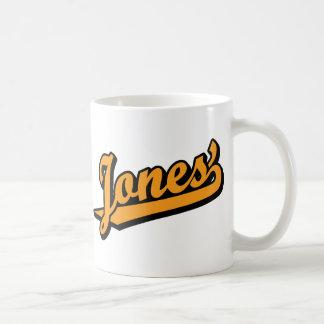 Jones' in Orange Coffee Mug