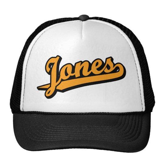 Jones in Orange Trucker Hat