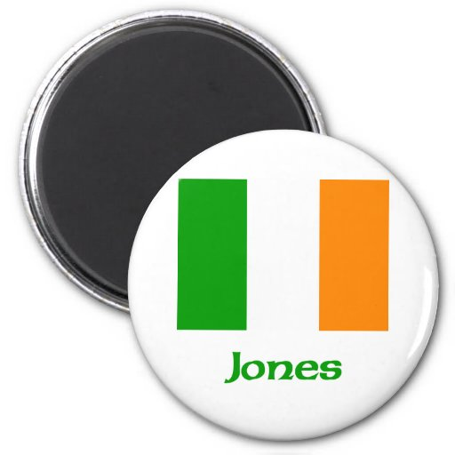Jones Irish Flag Refrigerator Magnets