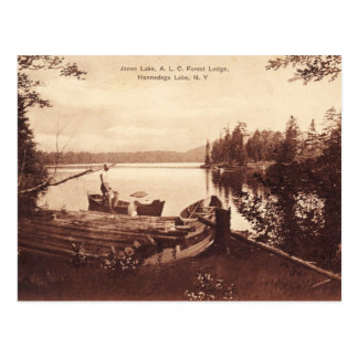 Jones Lake, Honnedaga Lake, New York Vintage Postcard