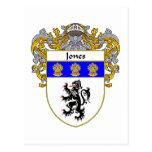 Jones Welsh Coat of Arms (Mantled) Postcard