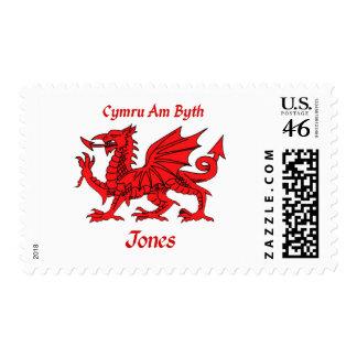 Jones Welsh Dragon Stamp