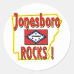 Jonesboro Rocks ! (red) Classic Round Sticker