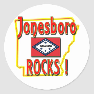 Jonesboro Rocks ! (red) Round Sticker