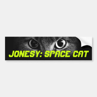 Jonesy: Gato del espacio Pegatina De Parachoque