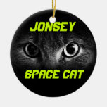 Jonesy: Space Cat Double-Sided Ceramic Round Christmas Ornament