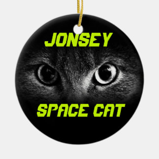 Jonesy: Space Cat Christmas Ornament