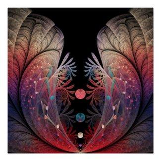 Jonglage Abstract Modern Fantasy Fractal Art Poster