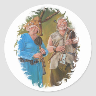 Jongleurs Classic Round Sticker