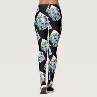 JONI PITTY MONSTER ALIEN CUTE  LEGGINGS