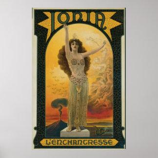 Jonia la magia del misticismo del ~ de la encantad póster