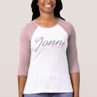"""JONNI """"Piano Driven Pop"""" Ladies 3/4 Sleeve Raglan  T-Shirt"""