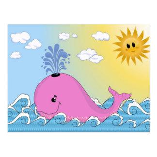 Jonny, la ballena rosada postal